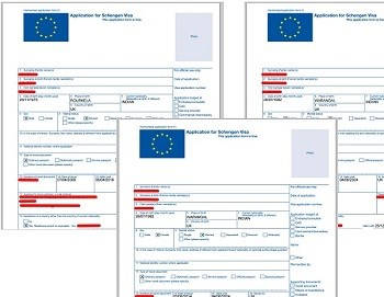 Visa applications obtained by SCMagazineUK.com, details redacted.
