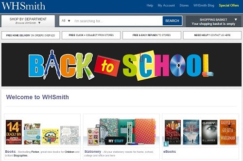 It's Back to School time for WH Smith