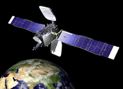 Artist's impression of a communications satellite in orbit. (Orbital Sciences)