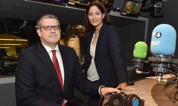 Andrew Parker and Today Programme presenter Mishal Husain (BBC)