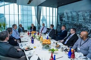 Discussing breach response 37 floors above London