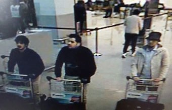 Three bombing suspects captured on airport CCTV