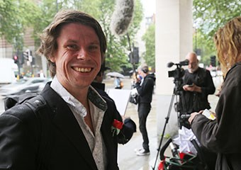 Lauri Love outside Westminster Magistrates' Court today