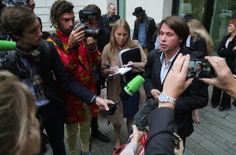 Lauri Love outside Westminster Magistrates' Court yesterday. Photo SC Magazine UK