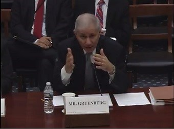 Martin Gruenberg testified in front of the committee today (credit: committee on science, space and technology)
