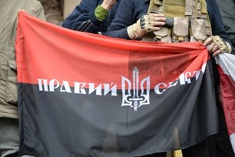Ukrainian nationalist group Right Sector seem to have very little to do with Poland (credit: Mstyslav Chernov via Wikimedia commons)